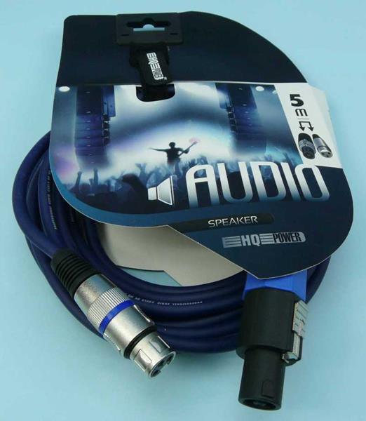 KABEL WT.SPEAKON->GN.MIKROF.3-PIN 5mb HQ